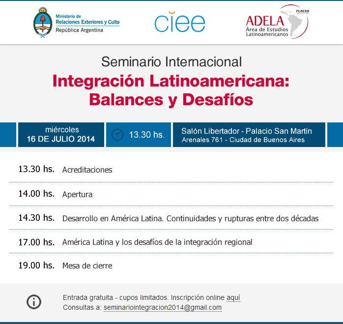 Seminario Internacional Integración Latinoamericana: Balances y Desafíos