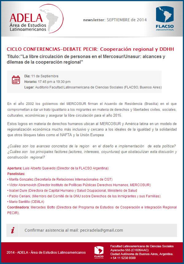 Conferencias PECIR-Libre circulación de personas en el MERCOSUR