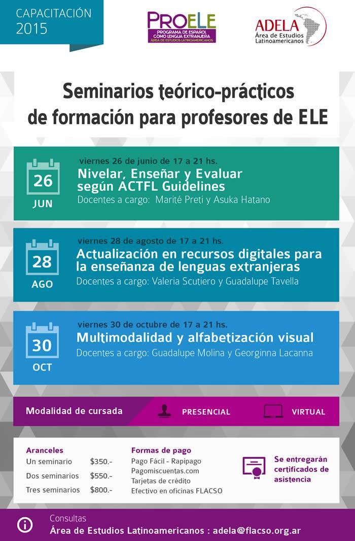 Ciclo de Seminarios Teorico Practicos de Formacion para Profesores de ELE