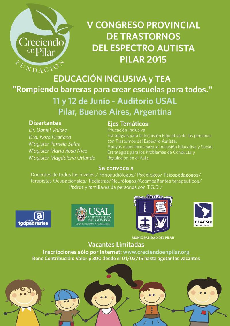 Vº Congreso Provincial de Trastornos del Espectro Autista - Pilar 2015.