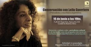 Conversacion con Leila Guerriero