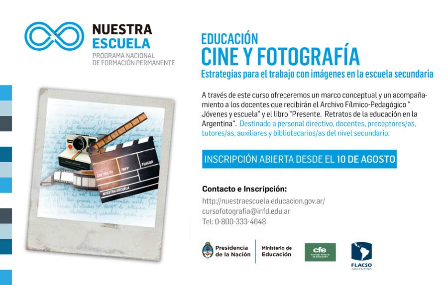 """Curso virtual en """"Educación, cine y fotografía"""""""