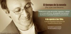 """Conferencia """"El tiempo de la novela"""""""