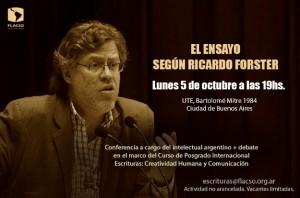 """Conferencia """"El ensayo según Ricardo Forster"""""""