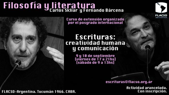 Filosofía y literatura con Carlos Skliar y Fernando Bárcena