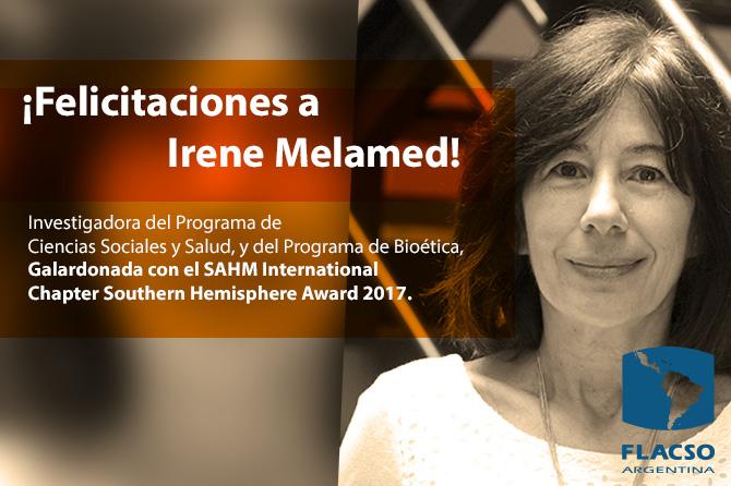 Premian a Irene Melamed, investigadora de la FLACSO