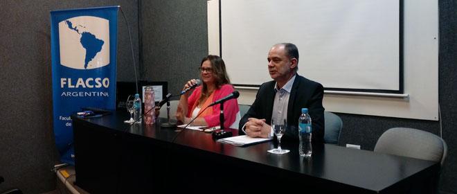Apertura a cargo del Director de la institución, Luis Alberto Quevedo, y la coordinadora académica, Andrea Rizzotti.