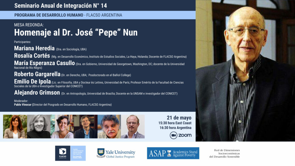 "Mesa redonda: Homenaje al Dr. José ""Pepe"" Nun"