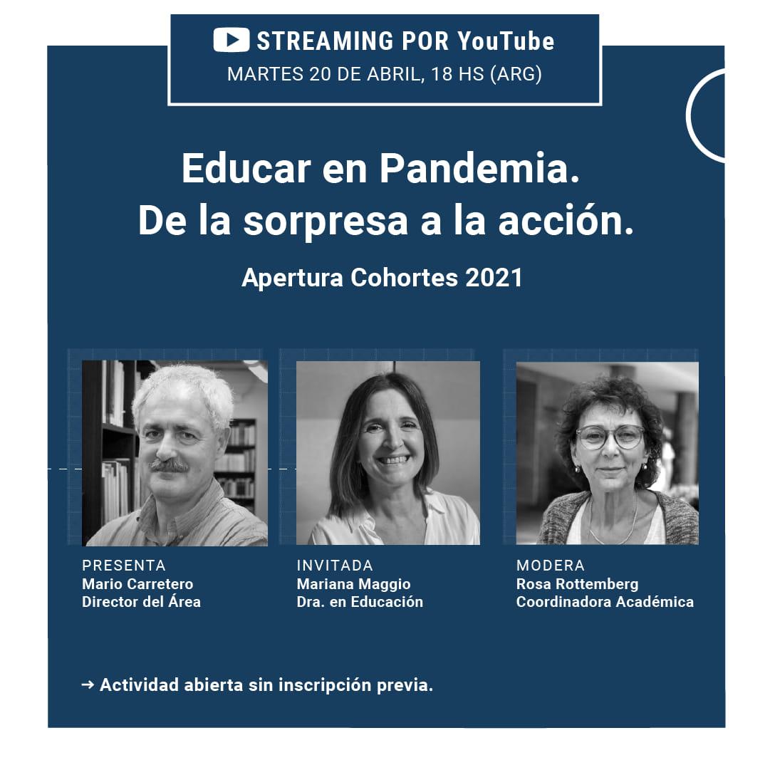 """Videoconferencia """"Educar en Pandemia. De la sorpresa a la acción"""""""